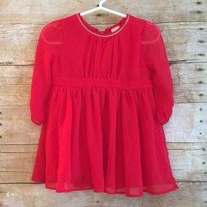 Osh Kosh B'gosh Red Formal Baby Dress 9-12 M